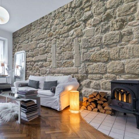 Die besten 25+ Steintapete Ideen auf Pinterest Moderne bäcker - verblendsteine wohnzimmer grau