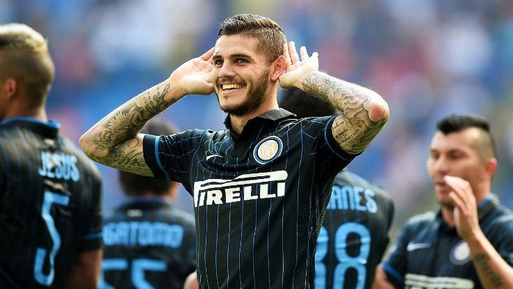 Inter's rising young star Mauro Icardi dominated vs. Sassuolo, scoring a hat-trick.