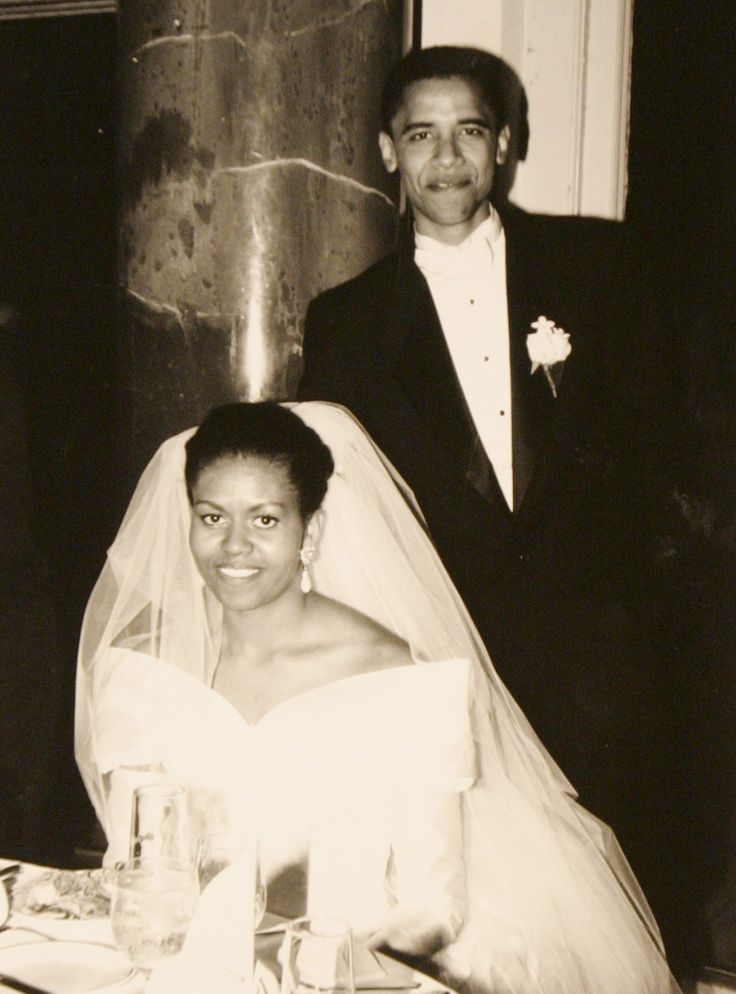 US Democratic presidential candidate Senator Barack Obama (D-IL) is seen with his wife Michelle in a family snapshot from their October 18, 1992 wedding day released by Obama's US presidential campaign, February 4, 2008. (REUTERS/Obama For America/Handout)  via @AOL_Lifestyle Read more: https://www.aol.com/article/news/2017/02/11/harvard-professor-who-taught-obamas-michelle-should-have-been-president/21712038/?a_dgi=aolshare_pinterest#fullscreen