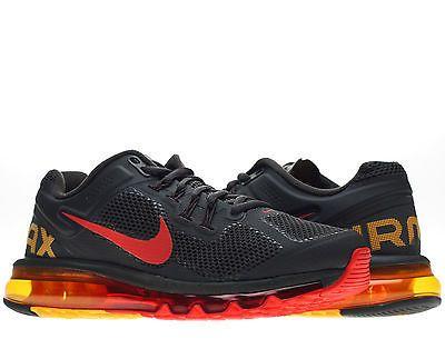 Nike Air Max 2013 Dark Charcoal Red Orange Mens Running Shoes 554886 068