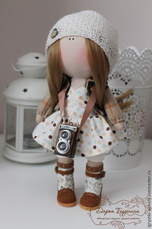 """Купить Интерьерная кукла """"Кукла фотограф"""" - бежевый, фотограф, кукла фотограф, интерьерная кукла"""