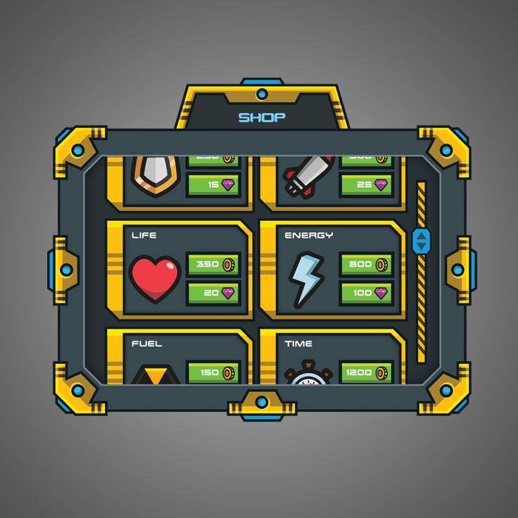 Cartoon Sci-fi Game GUI