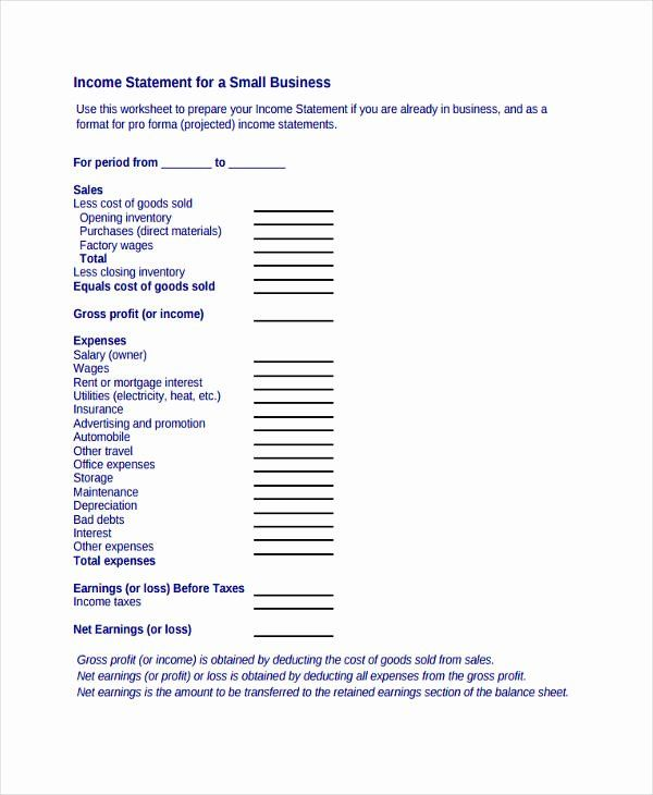 Business Income Statement Template In 2020 With Images Income