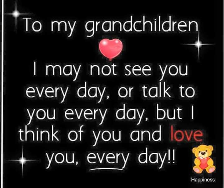Quotes I Love You More Every Day: To My Grandchildren I May Not See You Everyday For Talk To