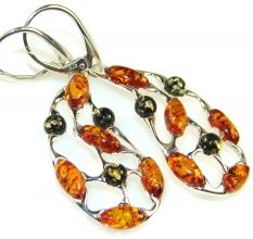 Empress Polish Amber Sterling Silver earrings