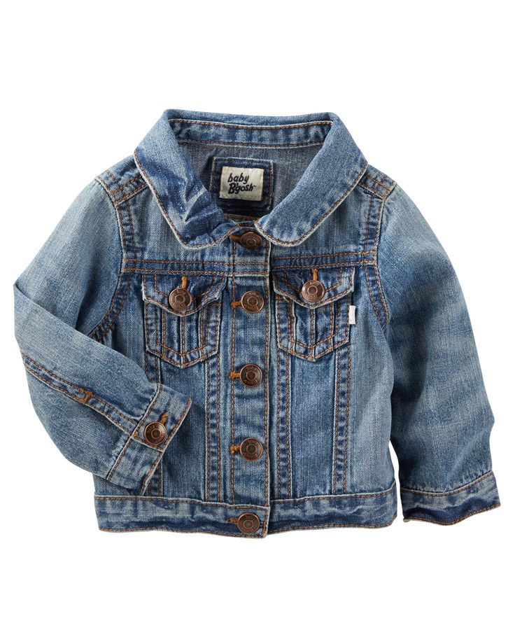 Baby Girl Denim Jacket - Blue Skies Wash   OshKosh.com