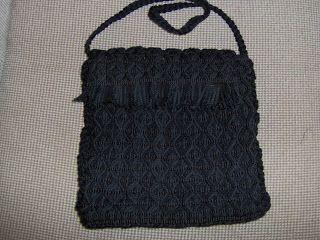 Robin Weaves Korowai: Black Mawhitiwhiti bag