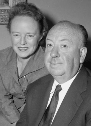 Alfred Hitchcock & wife