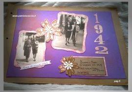 #Album  #di #famiglia #Eumene & #Clara realizzato a mano con la tecnica dello #scrapbooking - PAG 5