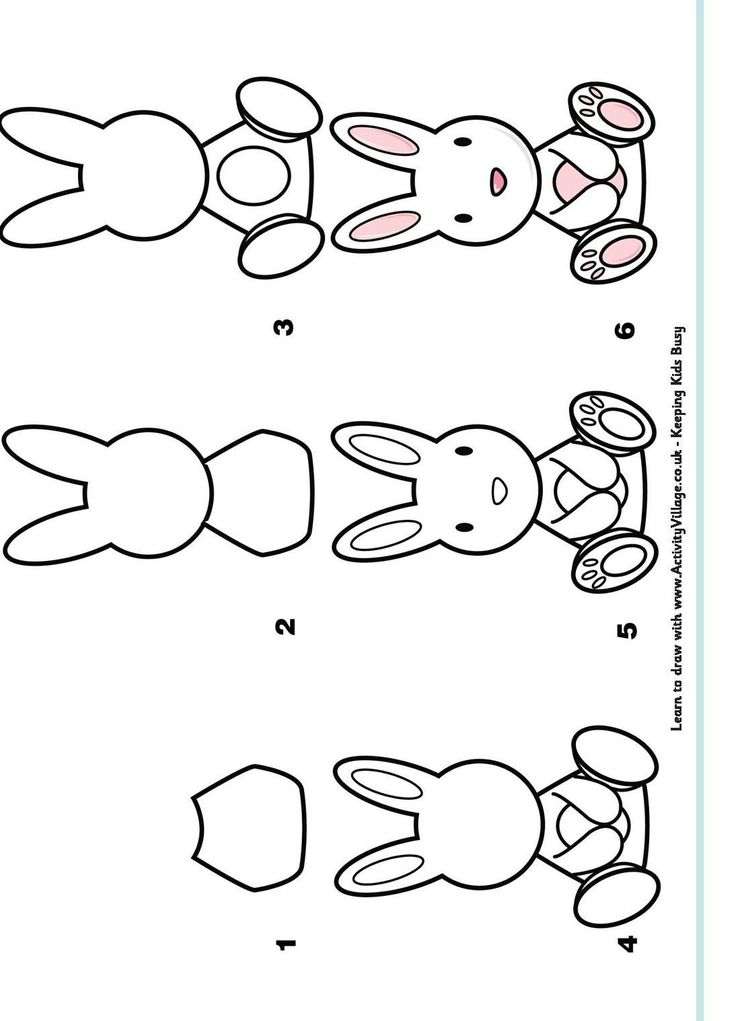 how to draw a rabbit head