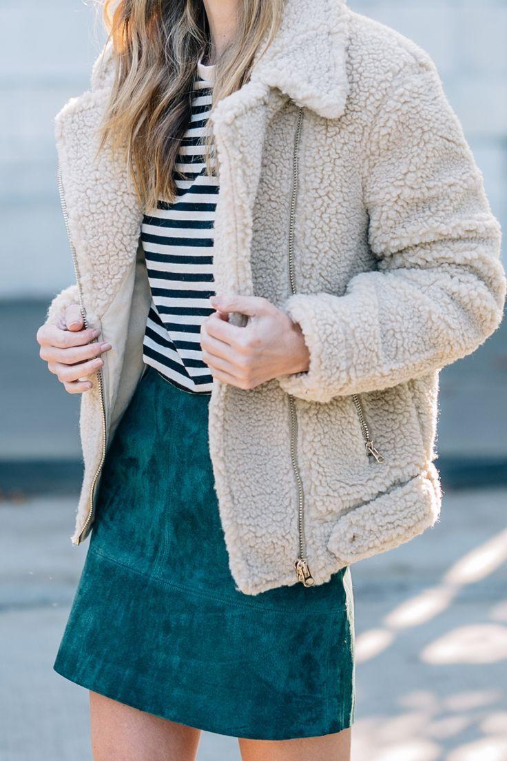Fall Favorites: Stripes, Suede, Shearling | Jess Ann Kirby