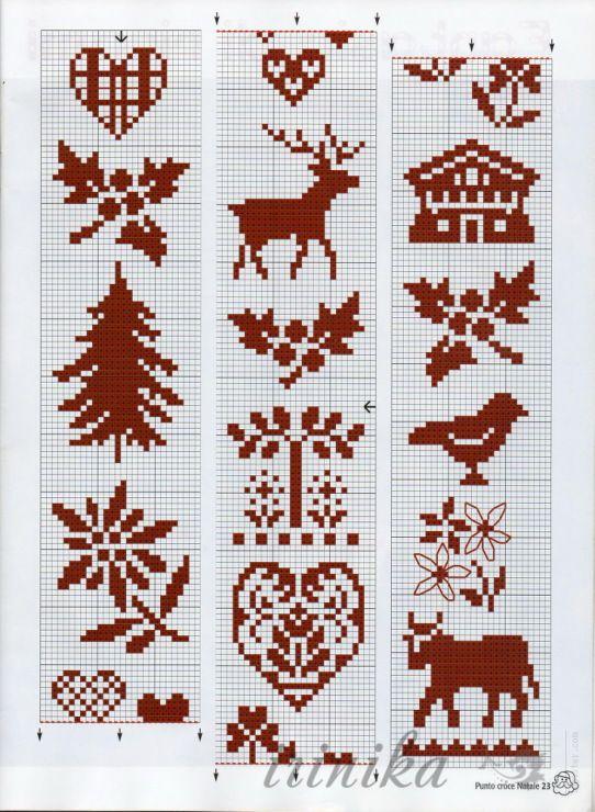 Reindeer Knitting Pattern Chart : 17 Best images about Christmas Knitting Motifs on Pinterest Reindeer, Chris...