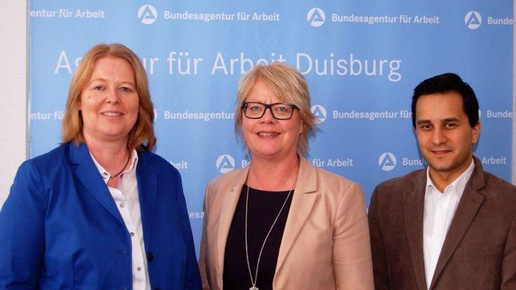 Duisburger Bundestagsabgeordnete Bärbel Bas und Mahmut Özdemir besuchen Vorsitzende der Geschäftsführung der Agentur für Arbeit Duisburg Astrid Neese