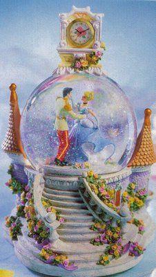 Disney Cinderella Clock Snowglobe