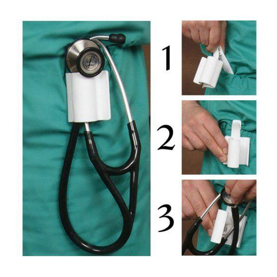 Stethoscope Holster Stethoscope Holder Stethoscope Clip Stethoscope Holder Nursing School Supplies Nurse
