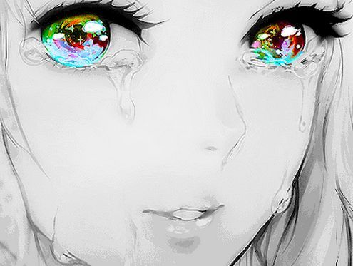 Beautiful anime girl crying | Anime art | Pinterest ...