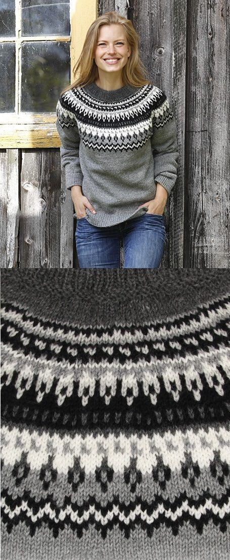 3d36d912c Free Knitting Pattern for a Women s Sweater Night Shades
