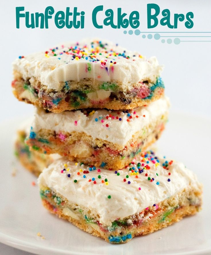 Funfetti Cake Batter Bars #funfetti #cake #cake_batter