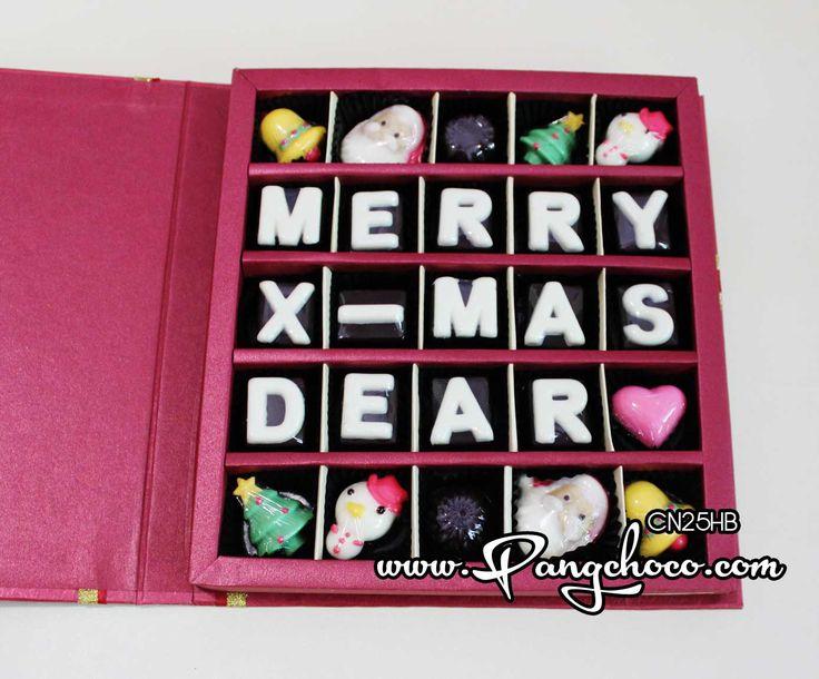 Ucapan natal juga bisa diucapkan dengan Coklat... manis sekali bukan.. :)