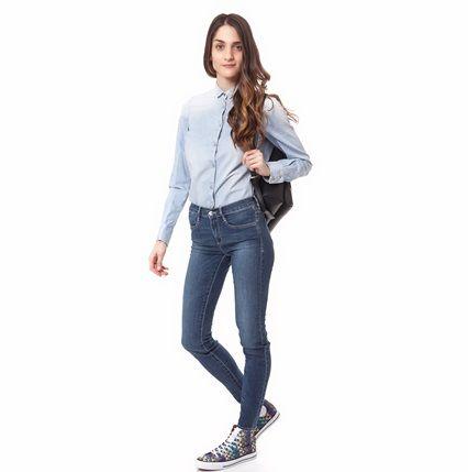 Γυναικείο πουκάμισο MARIBEL SOFT μπλε