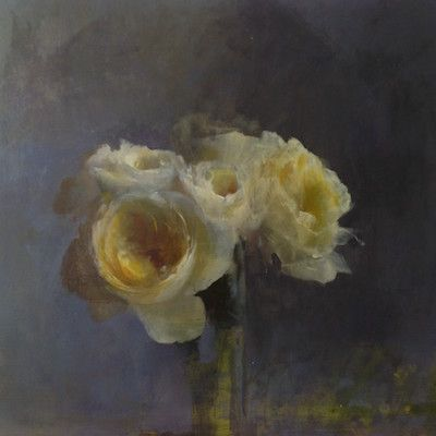 Being a professional artist means being continually willing to jump off a cliff - Kathleen Speranza  Kathleen Speranza is a superb painter of flowers. Look at this:    Kathleen is a professional artist who has spent plenty of time in the trenches. She's earned those gorgeous flower paintings.