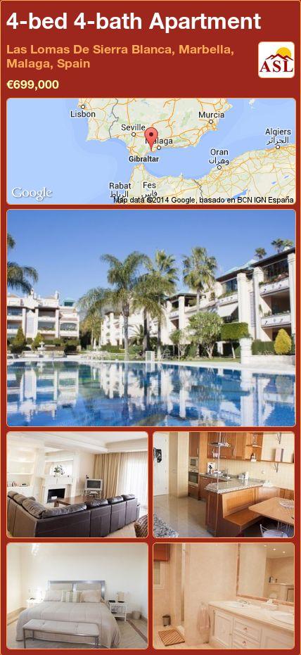 4-bed 4-bath Apartment in Las Lomas De Sierra Blanca, Marbella, Malaga, Spain ►€699,000 #PropertyForSaleInSpain