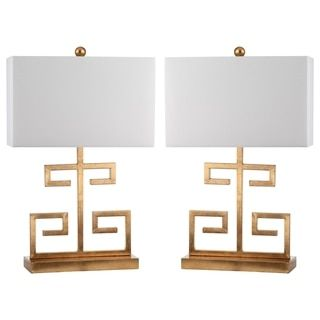 Safavieh Lighting 24-inch Gold Greek Key Table Lamp (Set of 2) | Overstock.com Shopping - The Best Deals on Lamp Sets