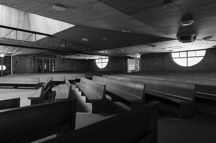 "Anthony Basheer (@anthonybasheer) on Instagram: ""Church of St Anthony's in Marsfield, Sydney by Enrico Taglietti. 📷by me. #church #enricotaglietti…"""