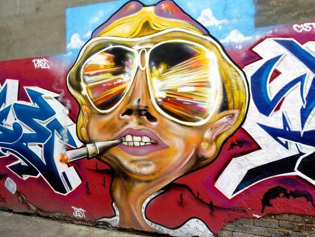 Fear and Loathing in Las Vegas...: Las Vegas, Hunter, Urban Art, Street Art, Loathing, Movie, Graffiti Art, Fear, Streetart
