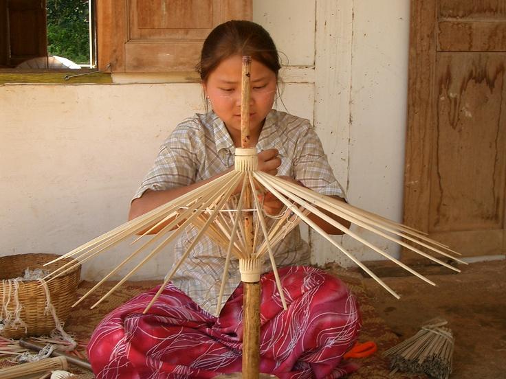 #PaperUmbrella #Factory #Myanmar