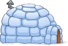 Blue Club Penguin Igloo