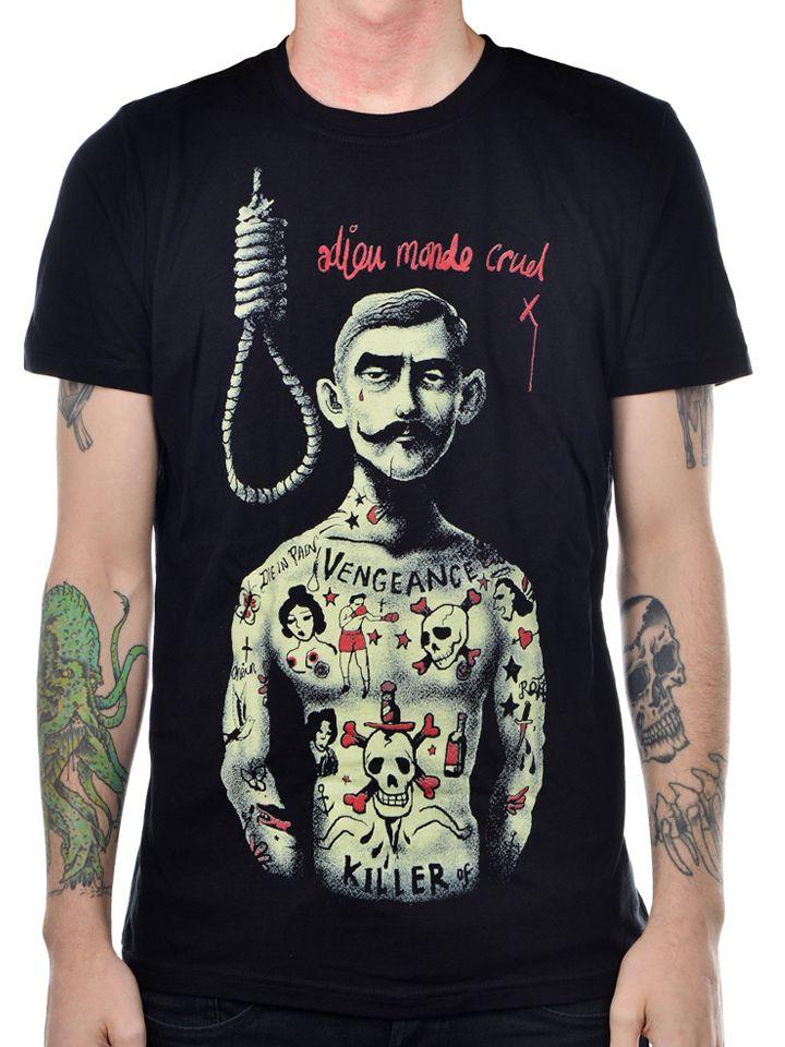 "Men's ""Cruel World"" Tee by Too Fast (Black) #InkedShop #CruelWorld #graphictee #Mustache #cool #menswear #mens #tee"