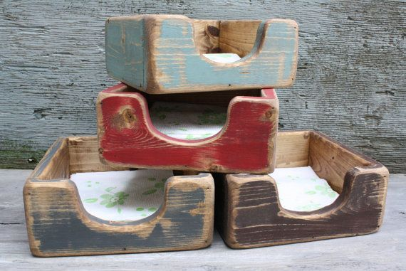 Distressed Napkin Holder Primitive Rustic by TheUnpolishedBarn