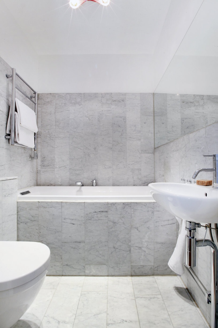 Loving marble bathrooms.  Is this a wee bit old fashioned for our house?