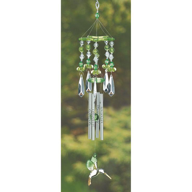 12506 Green Hummingbird Chimes Wholesale