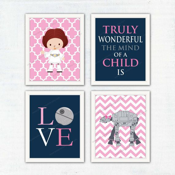Hey, I found this really awesome Etsy listing at https://www.etsy.com/listing/250258765/star-wars-girl-nursery-decor-princess