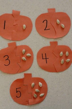 Pumpkin Seed Puzzles - I Can Teach My Child!