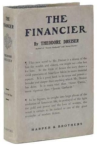 First edition of The Financier by Theodore Dreiser, 1912.