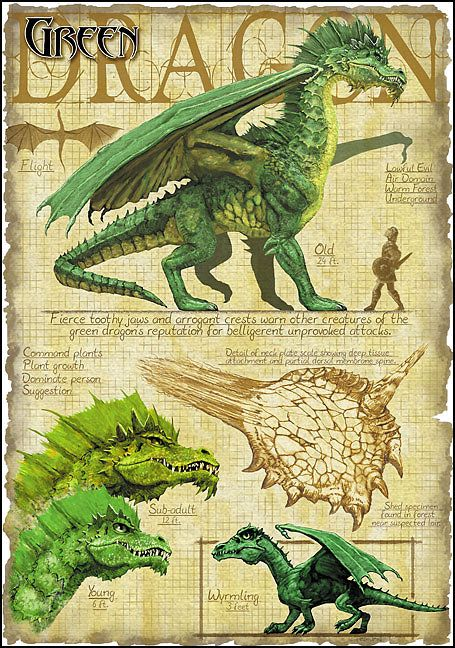 Green Dragon by Richard Sardinha , though I'll have to change the description to match my idea of a ruling dragon society...