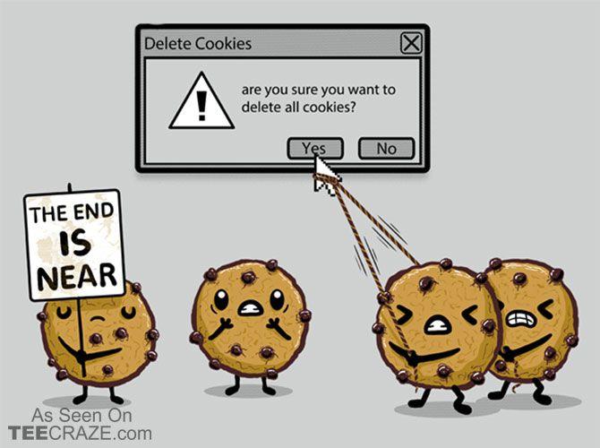 Delete Cookies T-Shirt - http://teecraze.com/delete-cookies-t-shirt/ -  Designed by Wirdou    #tshirt #tee #art #fashion #clothing #apparel