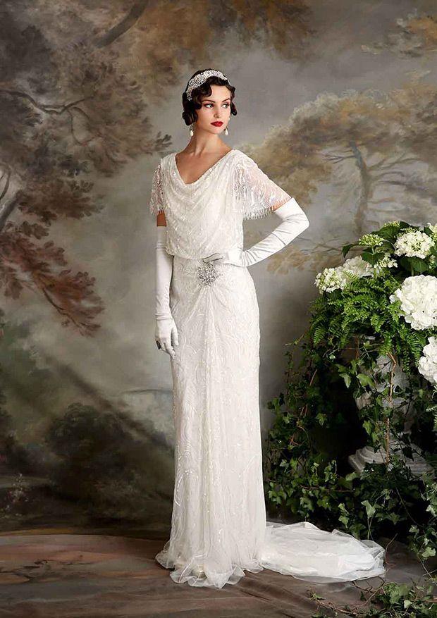 Vintage Inspired Eliza Jane Howell Florence Wedding Dress   www.onefabday.com