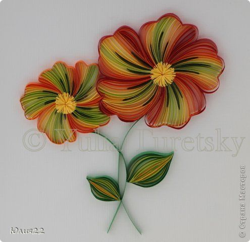 17 best images about quilled flowers on pinterest for Quilling strips designs