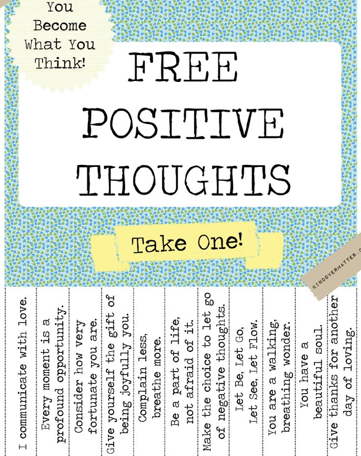 "Variations on a theme: instead of the proverbial candy jar at work, make a positive thoughts ""take one"" jar. Brighten someone's day without added calories! Spread joy wherever you go."