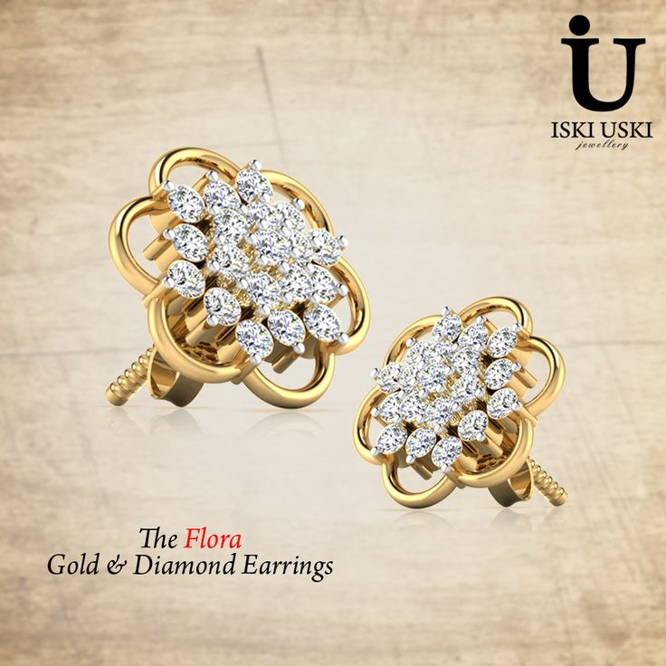 Get meticulous and impeccable ‪#‎Diamond‬ ‪#‎Earring‬ collections for women online from ‪#‎Flora‬ gold and Diamonds!!!