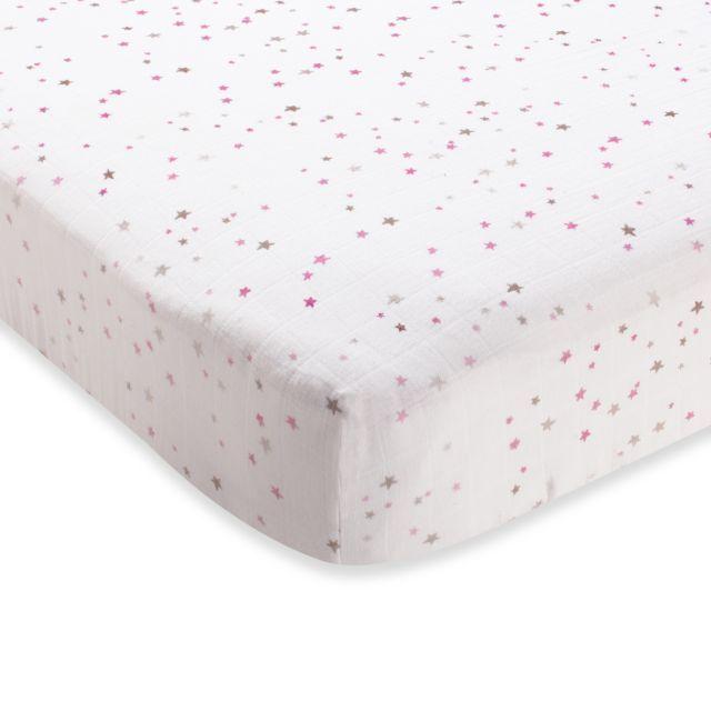 aden + anais® 100% Cotton Muslin Crib Sheet in lovely