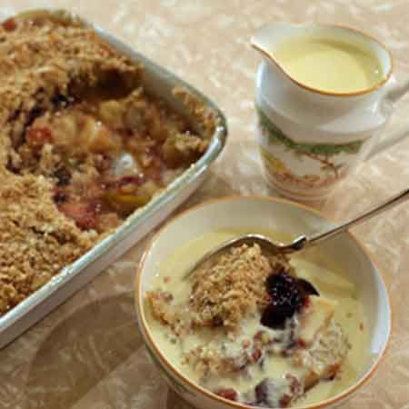 Pear and Chocolate Crumble.