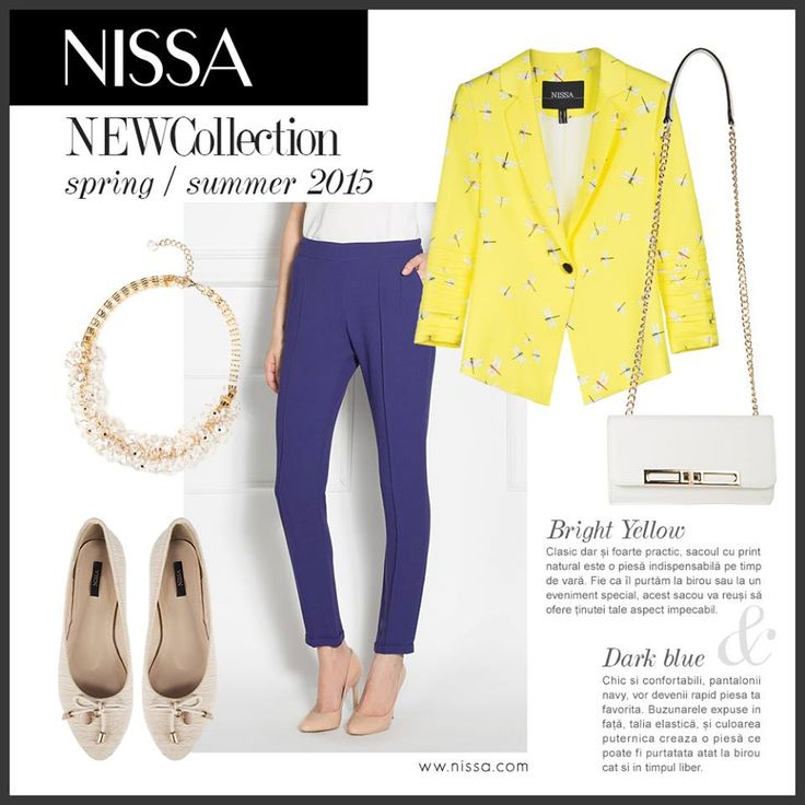 #nissa #new #collection #monday #look #style #fashion #fashionista #inspiration #yellow #navy #blue #bright #dark #accessories #business #office