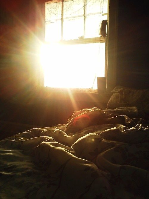 morning, light, aperture, rays, bed, blankets, messy, window