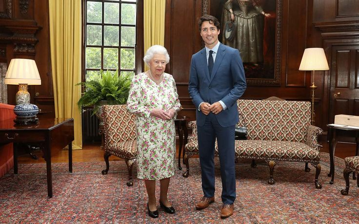 Canadian Prime Minister Justin Trudeau Made the Queen of England Laugh