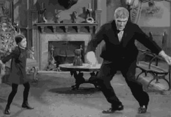 Addam's Family--Wednesday teaches Lurch how to dance.